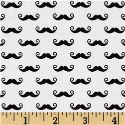 Riley Blake Pepe in Paris Geekly Small Mustache White