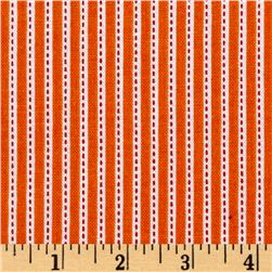 Riley Blake Backyard Roses Stripe Orange