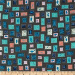 Cotton & Steel Homebody Stamps Teal