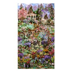 Timeless Treasures Flower Market Scenic Double Border Garden