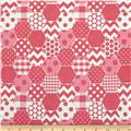 Riley Blake Hexi Print Hot Pink