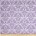 Riley Blake Medium Damask White/Lavendar