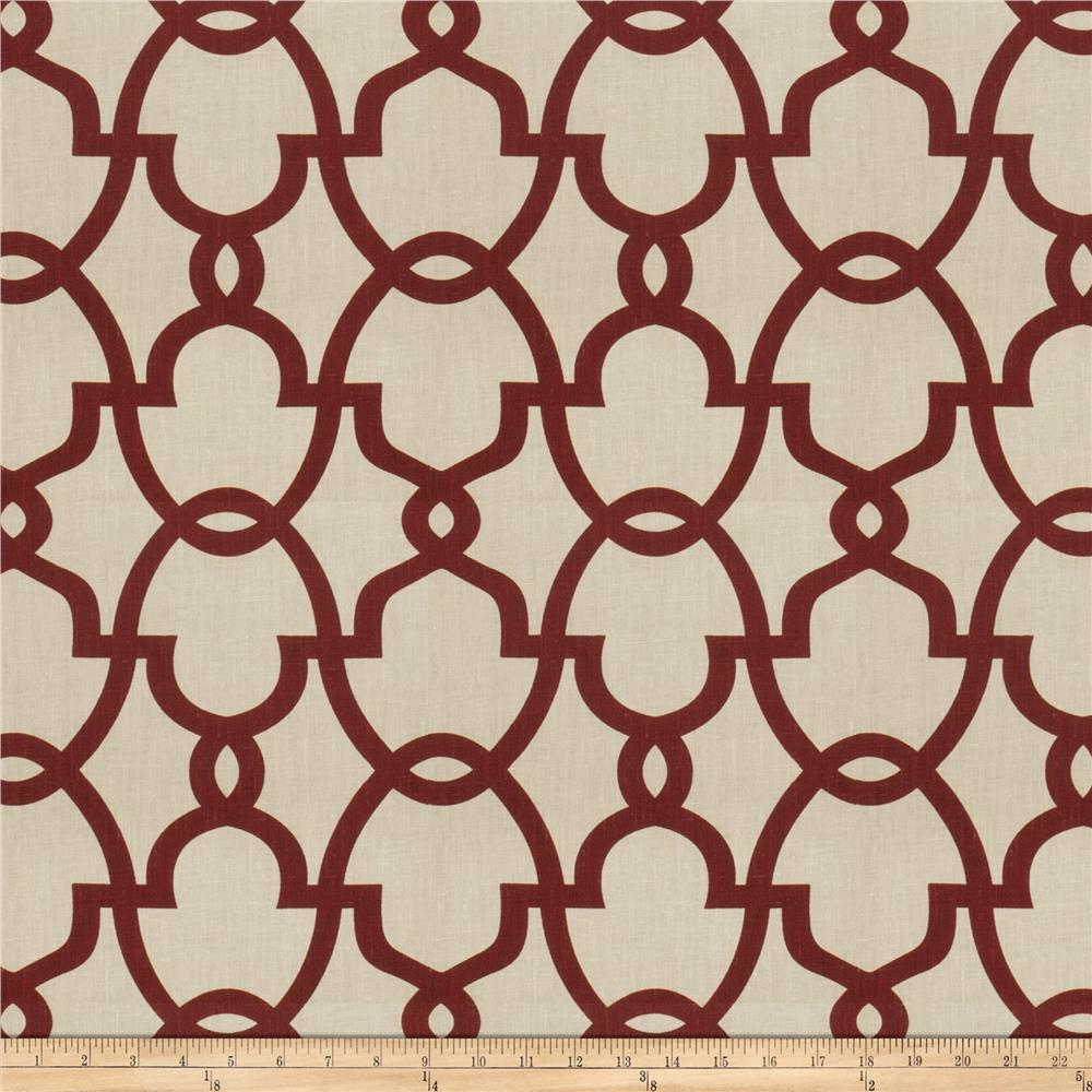Fabricut The Dance Linen Claret