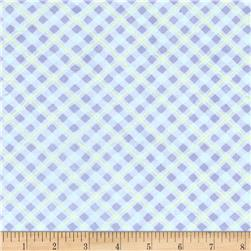 Pretty As A Pansy Bias Plaid Light Blue/Purple