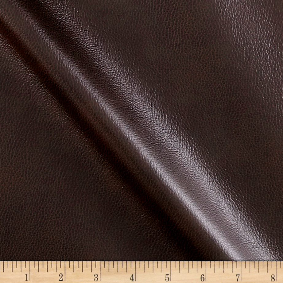 Breathable Faux Leather Espresso Fabric