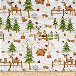 Debbie Mum Santa And Friends Scenic With Animals Ivory