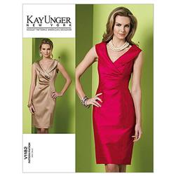 Vogue Misses' Dress Pattern V1182 Size BB0