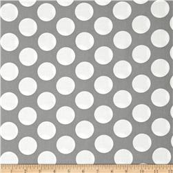 Gray Matters Jumbo Dot Grey Fabric