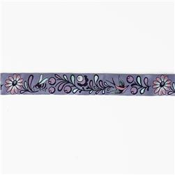"7/8"" Tula Pink Birds & Bees On Lavender Ribbon"