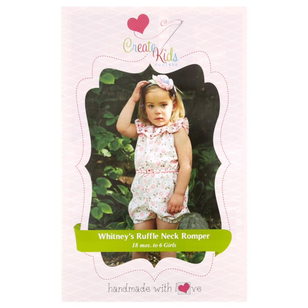 Create Kid's Couture Whitney's Ruffle Neck Romper Pattern
