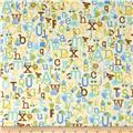 Riley Blake Snips & Snails Alphabet Yellow