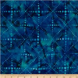 Artisan Batiks Color Source 4 Trellis Bubble Dot Surf