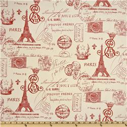 Premier Prints French Stamp Primary Red/Natural Fabric