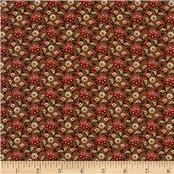 Moda Collection for a Cause Mill Book Garden Flower Walnut Brown