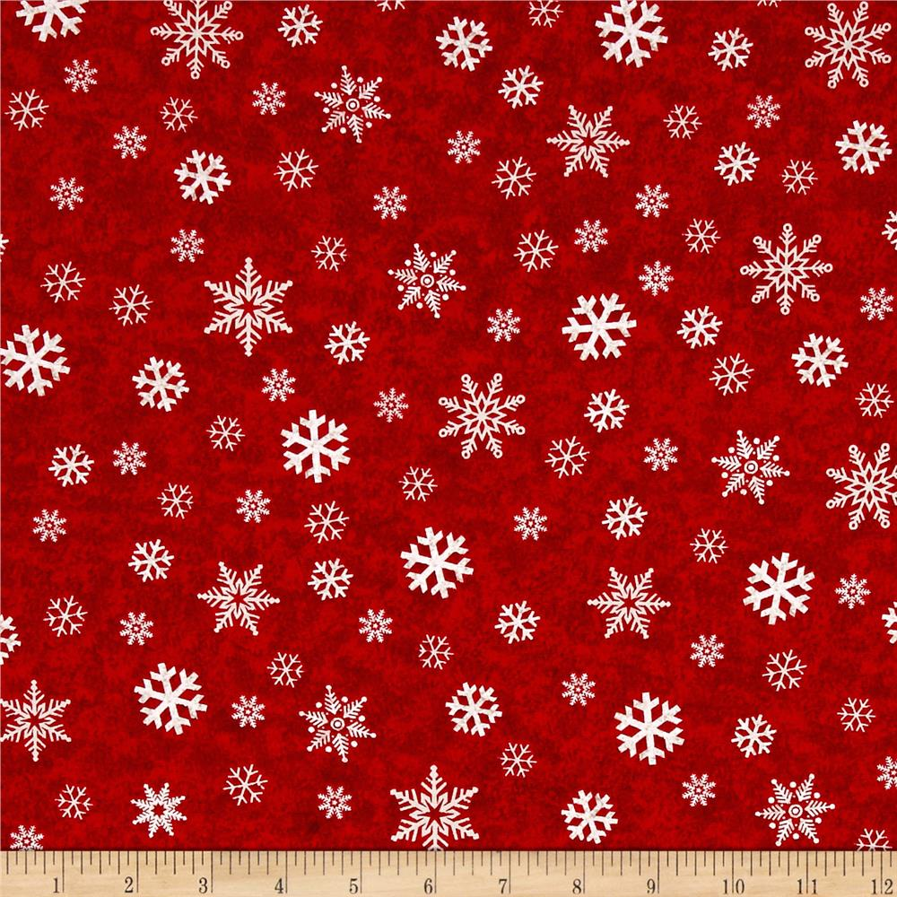 Gina Linn A Time Of Wonder Snowflakes Red