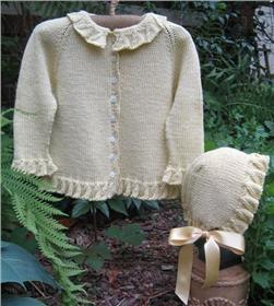 Tree Knitter Designs Baby's Daffodil Sweater and Cap Pattern
