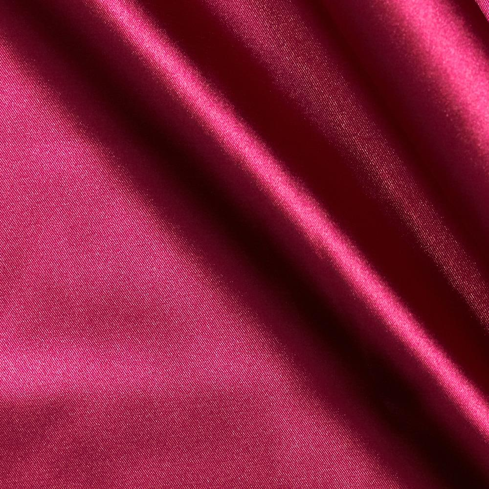 Stretch charmeuse satin dark fuchsia discount designer for Satin fabric
