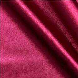 Stretch Charmeuse Satin Dark Fuchsia Fabric