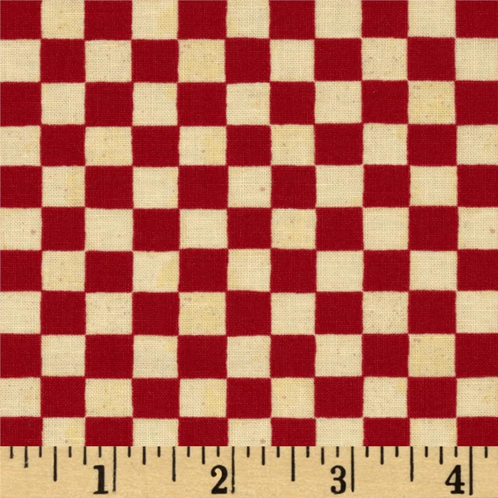 Home is in the Kitchen Checkerboard Red