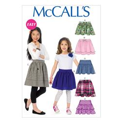McCall's Children's/Girls' Skirts Pattern M6984 Size CCE