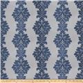 Fabricut Vergara Damask Faux Silk Navy