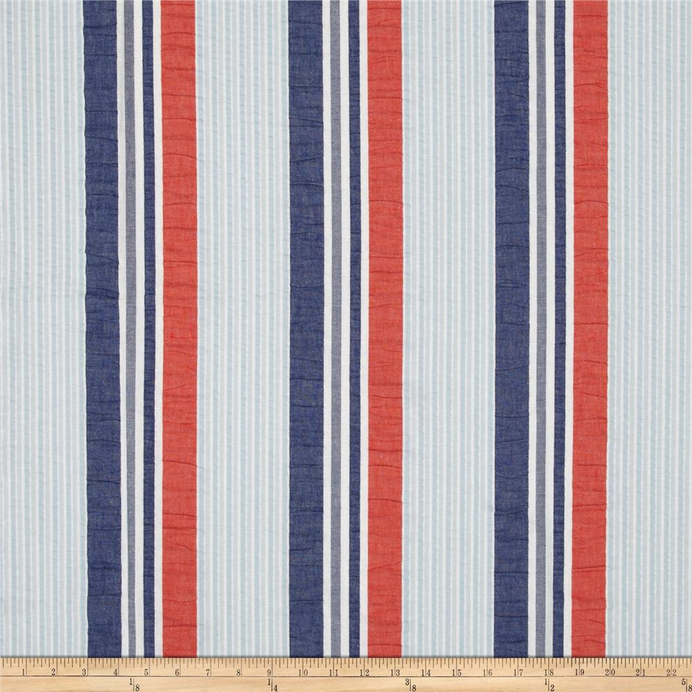 P Kaufmann Brielle Seersucker Stripe Nautical Discount