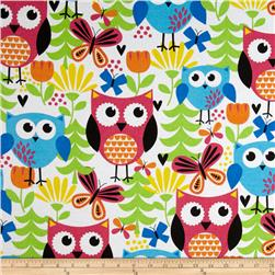 Flannel Large Owl Faces Multi