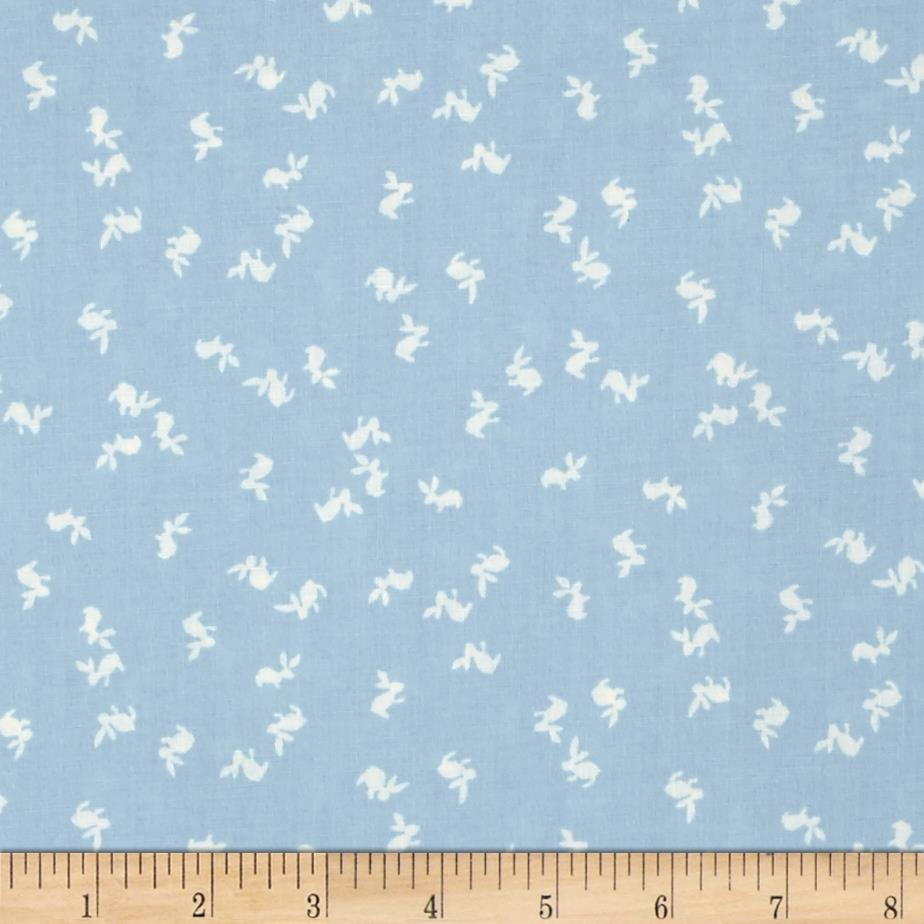 "Mary Fons Small Wonders 108"" Quilt Back Signature Bunny Light Blue"