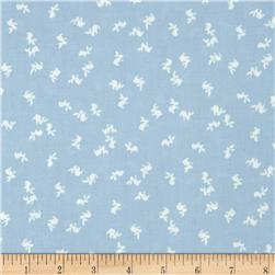"""Mary Fons Small Wonders 108"""" Quilt Back Signature Bunny Light Blue"""