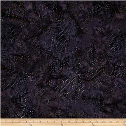 Batavian Batiks String of Dots Purple