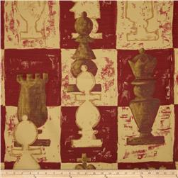 Robert Allen Promo Chess Game Linen Blend Grenadine