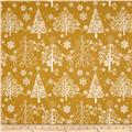 Sparkle Metallic Christmas Trees Gold
