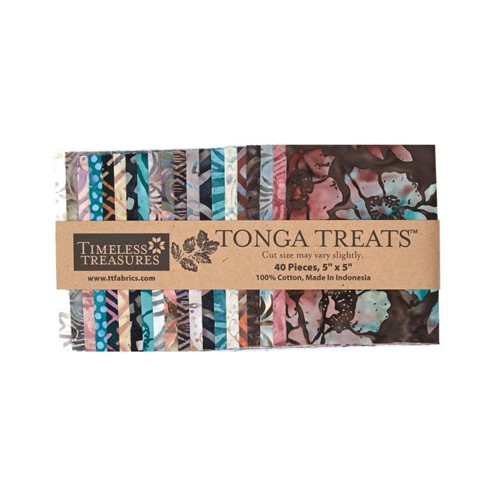 Timeless Treasures Tonga Treats Batik Topaz 5