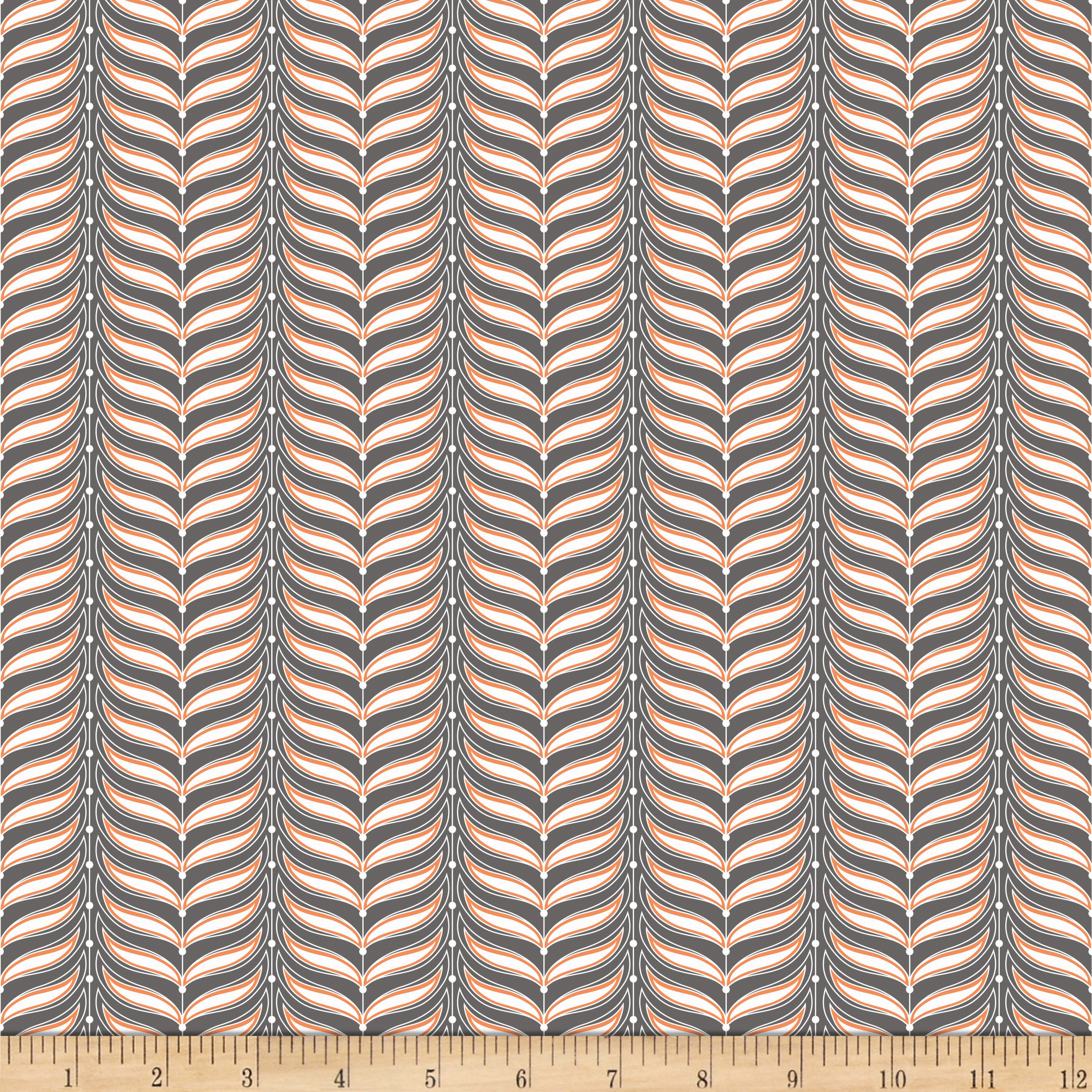 Riley Blake Lula Magnolia Fern Grey Fabric