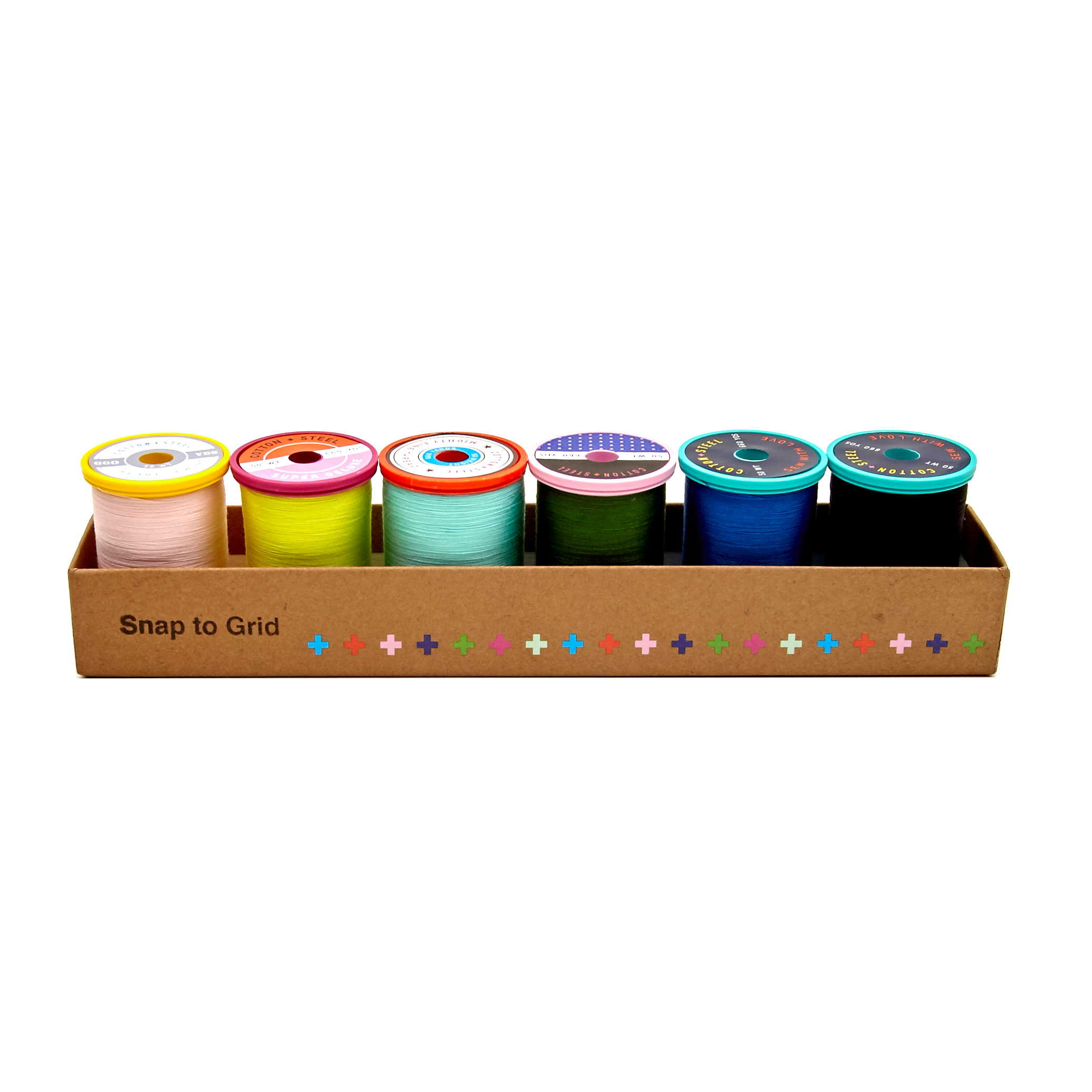 Image of Cotton + Steel 50wt. Cotton Thread Set by Sulky Snap to Grid Collection