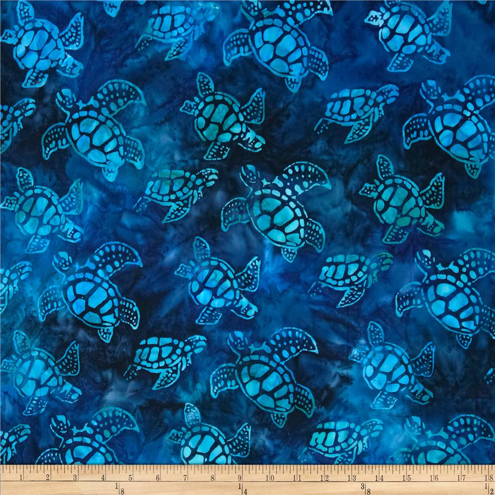 Artisan Batiks Totally Tropical Small Turtles Regatta