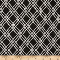 Double Knit Plaid Black/White