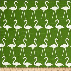 Premier Prints Flamingo Slub Coastal Green Fabric