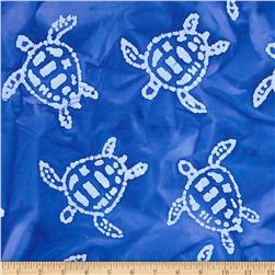 Indian Batik Sandy Hook Turtle Royal