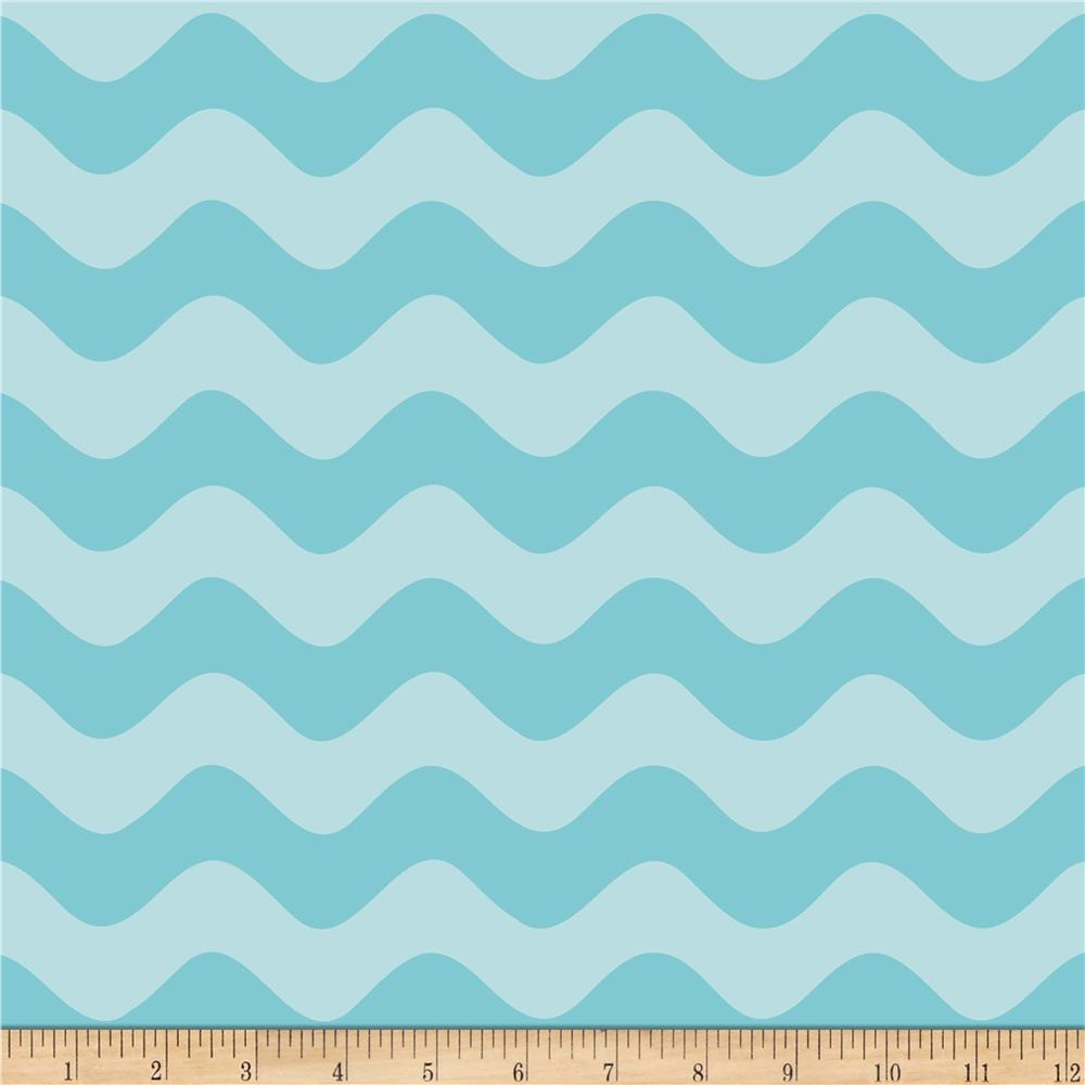 Riley Blake Wave Tonal Aqua