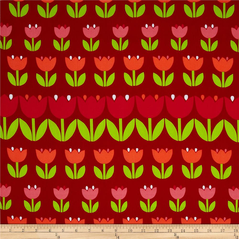 Contempo Palm Springs Tulips Red Blotch