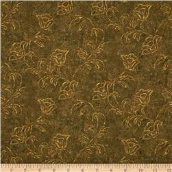 Jinny Beyer Palette Ghost Flower Soft Brown