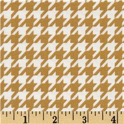 Black & Tan Houndstooth White/Marigold Fabric