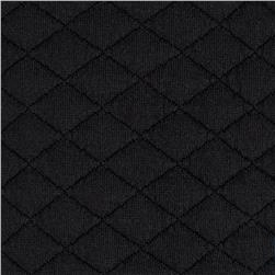 Sweden Quilt Knit Solid Black