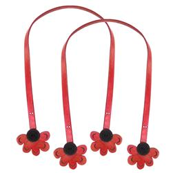 Cindy's Purse Straps 32'' Half Daisy Red