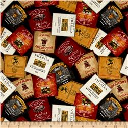 Vintage Wine Labels Black