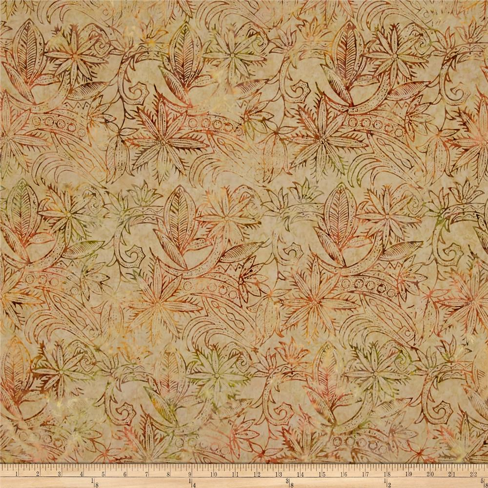 Timeless treasures tonga batik forest floor henna floral for Quilting fabric sale