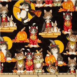 Happy How-O-Ween Cats Black