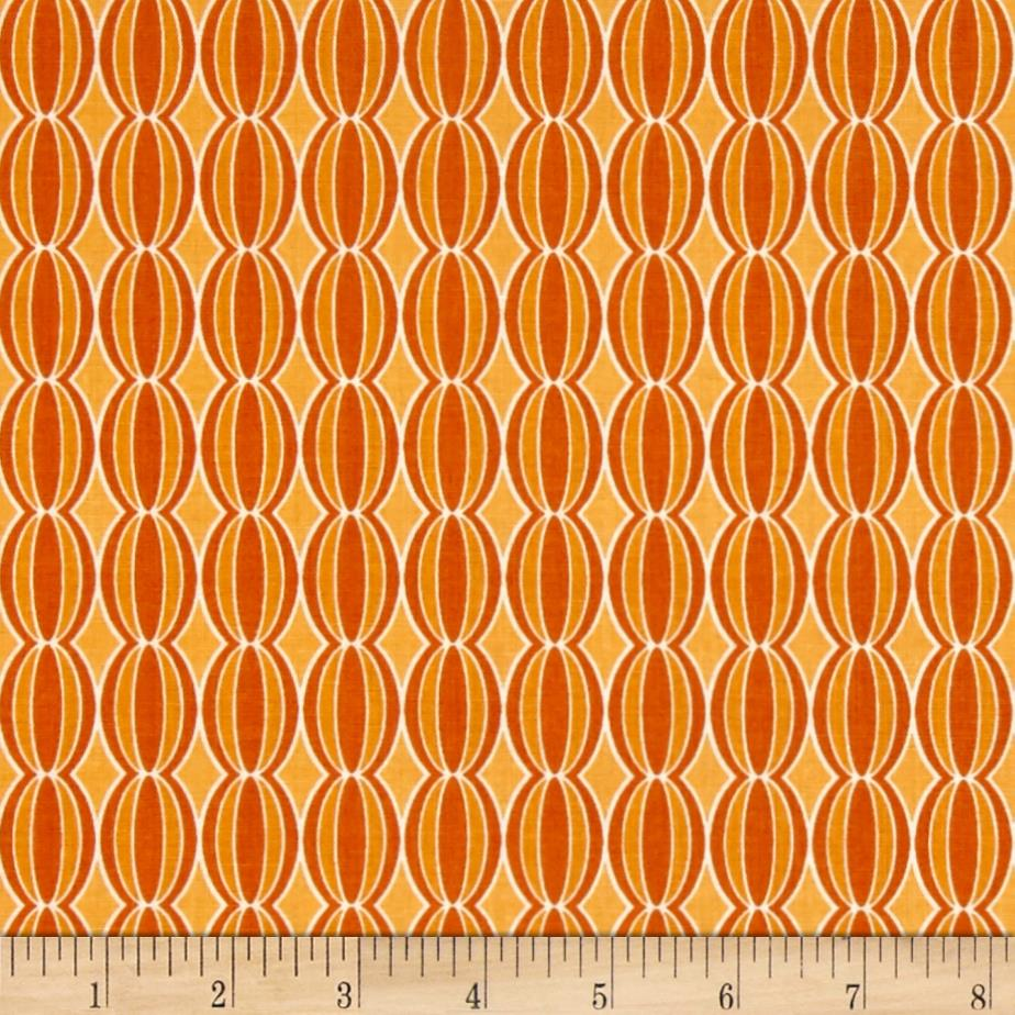 Riley Blake Botanique Circles Orange