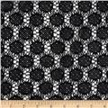 Nylon Crochet Circles Lace Black